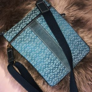 Blue Coach Crossbody